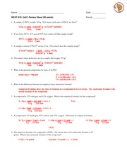 Unit 3 Review Sheet - KEY
