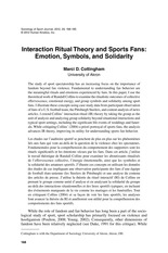 English Literature article Sports fans