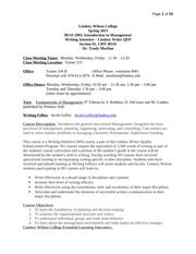 SYLLABUS BUSI 2903 Intro to Management   Spring 2013(1) (3)