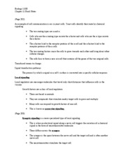 Lectures 2-3 Chapter 11 Book Notes (Pg. 201-215)