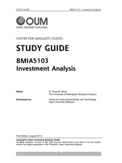 BMIA5103 Full Version Study Guide