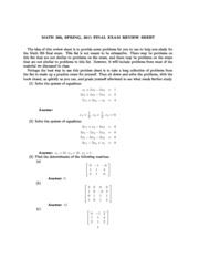 205sp11-final-review-solutions