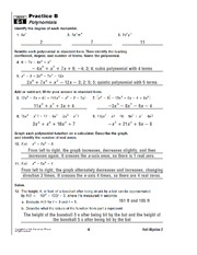 Printables Algebra 2 Worksheets With Answers algebra 2 polynomials worksheet intrepidpath answers worksheets for kids