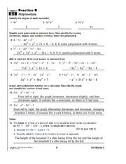 polynomials homework key