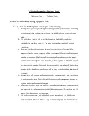 Collective Bargaining Agreement--Employee Safety MS 1--Fazio.docx
