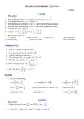 INVERSE TRIG WORKSHEET