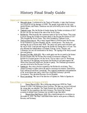 History Final Study Guide