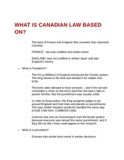 What is Canadian law based on