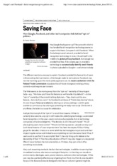 Morozov - Saving Face - How Google, Facebook, and other tech companies hide behind opt-in policies.p