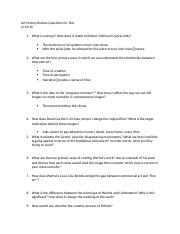 Art History Review Questions for Test 3