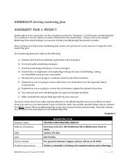 BSBMKG609 develop marketing plan assessment 3.docx