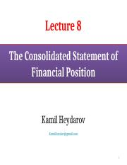 FR_Lecture 8_The Consolidated Statement of Financial Position