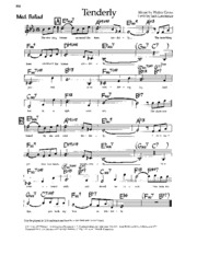 Tenderly Music Notes