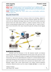 Bluetooth, WiMAX and 802.11