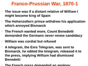 Franco-Prussian War Notes