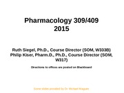 Introduction PHRM309-409 2015