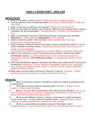 EXAM 3 Review Sheet GEOL A105 Fall 2015.docx