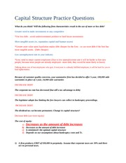 FIN 302- Capital Structure Practice Questions