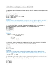 Unit 9 (Ch.11) Extra Problems - Solutions