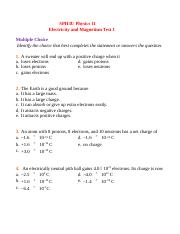 SPH3U Electricity and Magnetism Test 1.docx