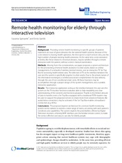Remote health monitoring for elderly through