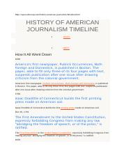 HISTORY OF AMERICAN JOURNALISM TIMELINE.docx