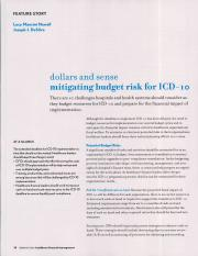 Dollars and sense - Mitigating budget risk for ICD-10.