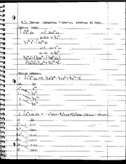 Tabular Integration and Repeating Integration of Parts Notes