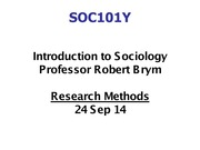 Lecture 3 Research methods