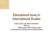 Lecture over International Education