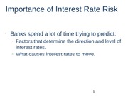 Importance of Interest Rate Risk