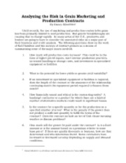 Analyzing the Risk in Grain Marketing andProduction Contracts.pdf