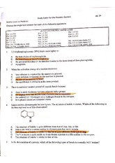 Sample Exam on Protein