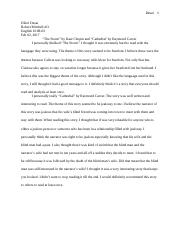 English Essay Short Story Cathedral And A Small Good Thing By Raymond Carver Both Clearly Paris  Review Rabbit Run Critical Essay On Health And Fitness also How To Write An Essay Proposal Example Finding A Helpful Admission Essay Writing Course Online Cathedral  English Sample Essays