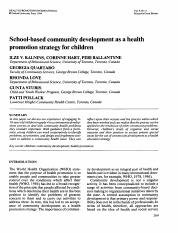 School-based community development as a health promotion strategy for children