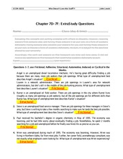 Chapter 7  Extra Study Questions