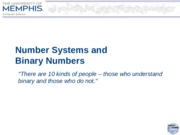 (06-03) Number Systems and Binary Numbers