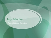 Lecture 29-Jury Selection