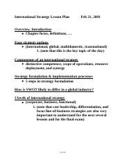 International Strategic Management docx