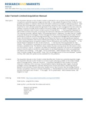ador-fontech-limited-acquisition-manual
