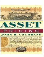 Asset Pricing-John H. Cochrane