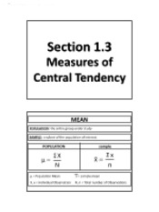 1.3 - Measures of Central Tendency (Solutions)