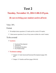 Test 2 information Fall 2014 (1)