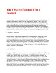 The 8 States of Demand for a Product
