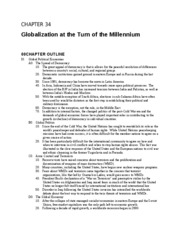 Chapter 34 Globalization in the New Millennium