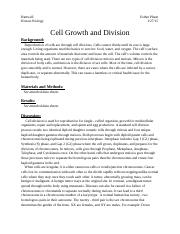 Cell Growth and Division.docx
