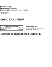Chapter 3 - Child tax Credit
