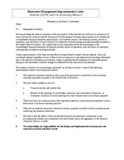 Sample Mgt Representations Letter