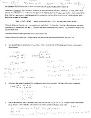 worksheet 2 - additional review on limits and continutiy