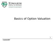 19 Option Valuation